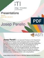 ASTI Presentations - Josep Perello