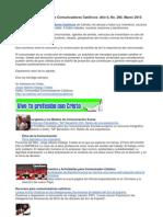 Boletín Comunidad de Comunicadores Católicos 266