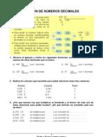 35 División de números decimales