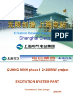 Excitation system equipment instrcution for QUANG NINH 2×300MW thermal power plant