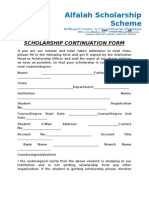 Scholarship Continuation Form