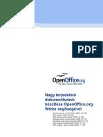 Nagy Terjedelmu Dokumentumok Keszitese OpenOffice Org Writer Segitsegevel