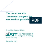 ASiT Non Medical Consultant Position Statement