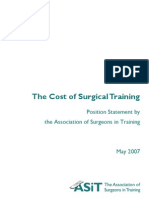 ASiT Cost of Surgical Training Final