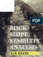 Rock Slope Stability Analysis, P Giani, 1992