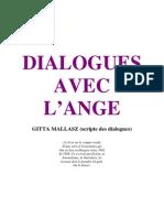 Livre Dialogues Avec lAnge - GITTA MALLASZ