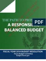 FY14 Budget Blueprint