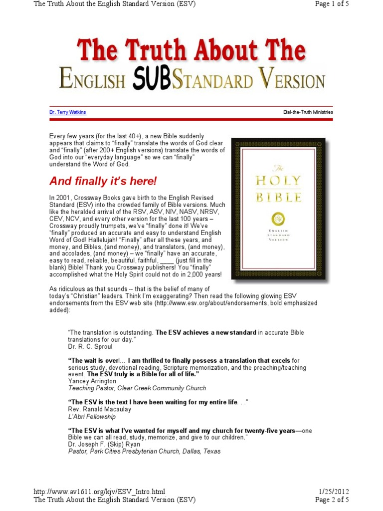 Truth About the ESV Bible | English Standard Version | Bible