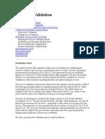 Process Validation - Example 1