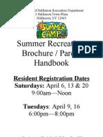 2013 Summer Brochure