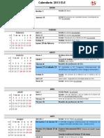 Calendario de Español 2013