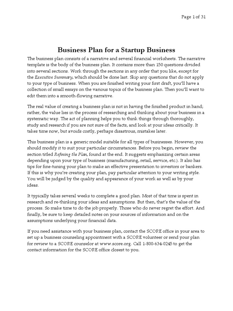 contoh proposal bisnis plan financial economics
