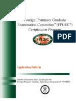 FPGEC Application Bulletin 2013