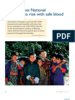 Bhutan Gross National Happiness to Rise With Safe Blood