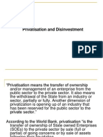 Divestment and Privatisation