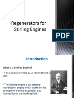 Regenerator for Stirling engine