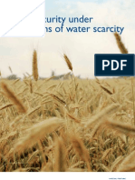 Food Security Under Conditions of Water Scarcity