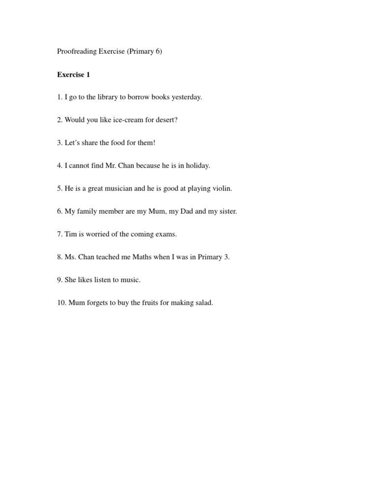 proofreading exercise Free proofreading worksheets sofware download and review at softlistnet, free downloads of proofreading worksheets freeware and shareware programs.