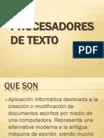 Introduccion a Los Procesadores de Texto