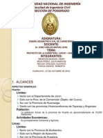 PARÁMETROS DE DISEÑO, CARRETERA LIRCAY - HUANTA