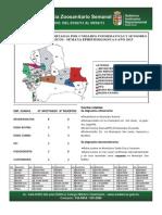 Semana Epidemiológica 6/2013, del sistema de vigilancia de Sanidad Animal; Santa Cruz, Bolivia