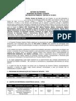 EDITAL 012013 PARA PUBLICAÇÃO