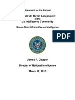 Statement for the Record - Worldwide Threat Assessment of the U.S. Intelligence Community