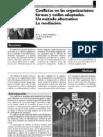 PERAZA Y GARCIA (2006) Conflictos en Las Organizaciones. Forma y Estilos Asociados