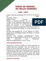 Gobierno de Manuel Isidoro Belzu Humerez