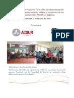 Evaluacion Final Programa Mujeres IMC
