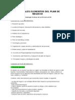 Estructura de Plan de Negocios I