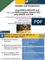 SEMTECH2011E - OnTheDay - TQ NIEM Ontologies and Vocabularies - (v5-ARH-sFINAL)