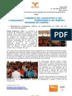 EL TRABAJO CONJUNTO DEL LEGISLATIVO Y LOS CIUDADANOS, PERMITIRÁN A LAS MUJERES AVANZAR EN CHIAPAS