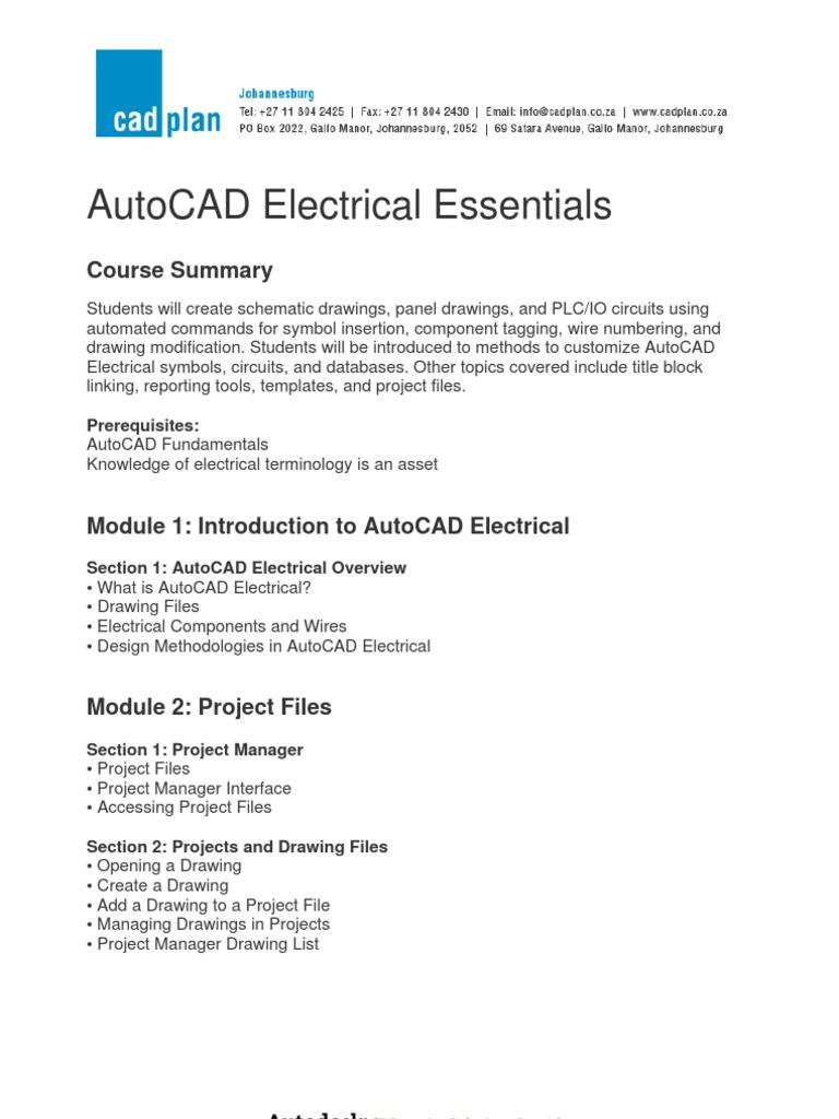 Autocad Electrical Essentials Connector Auto Cad Wiring Symbols