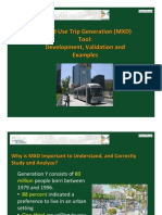 Mixed Use Trip Generation (MXD) Tool