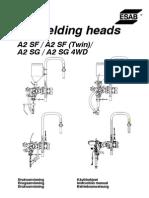 A2 Welding Heads, (a2 Sf, A2 Sg, A2 Sg 4wd)