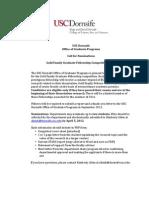 Gold Fellowship Announcement 2013