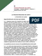 Sant'Agostino - La predestinazione dei santi (ITA)
