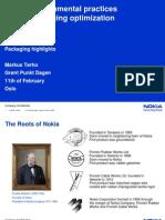 Nokia Packaging Optimal Ization Experiences 1