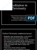 Meditation in Christianity in extreme detail