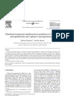 Vibrational Assignments Thio-Tetrazole JMS03