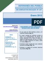 52reporte Mensual de Conflictos Sociales n 107 Enero