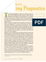 Introduction to Teaching Pragmatics