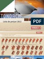 Lista Preturi 2012 Tigla Tondach