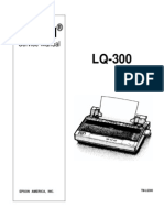Epson LQ-300 Color Dot Matrix Service