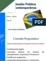 IGEPP - Aula 12 - Tema 12 - Leonardo Ferreira 19-04-2012