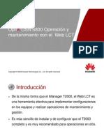 7. OptiX OSN 380068008800 Web LCT Operation and Maintenance