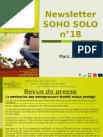Newsletter Soho Solo n18 Mars09