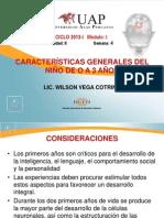 7. CARACTERÍSTICAS GENERALES DEL NIÑO DE O A 3 AÑOS
