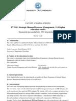 Kursplan PV2101 Strategic HRM